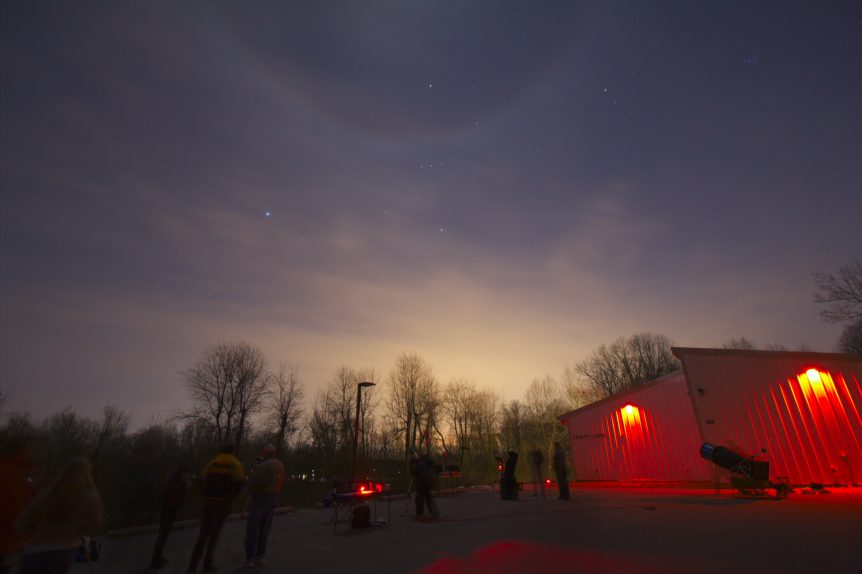 Open House with Lunar halo