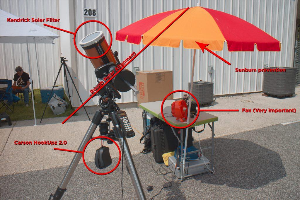 Eclipse Telescope Setup