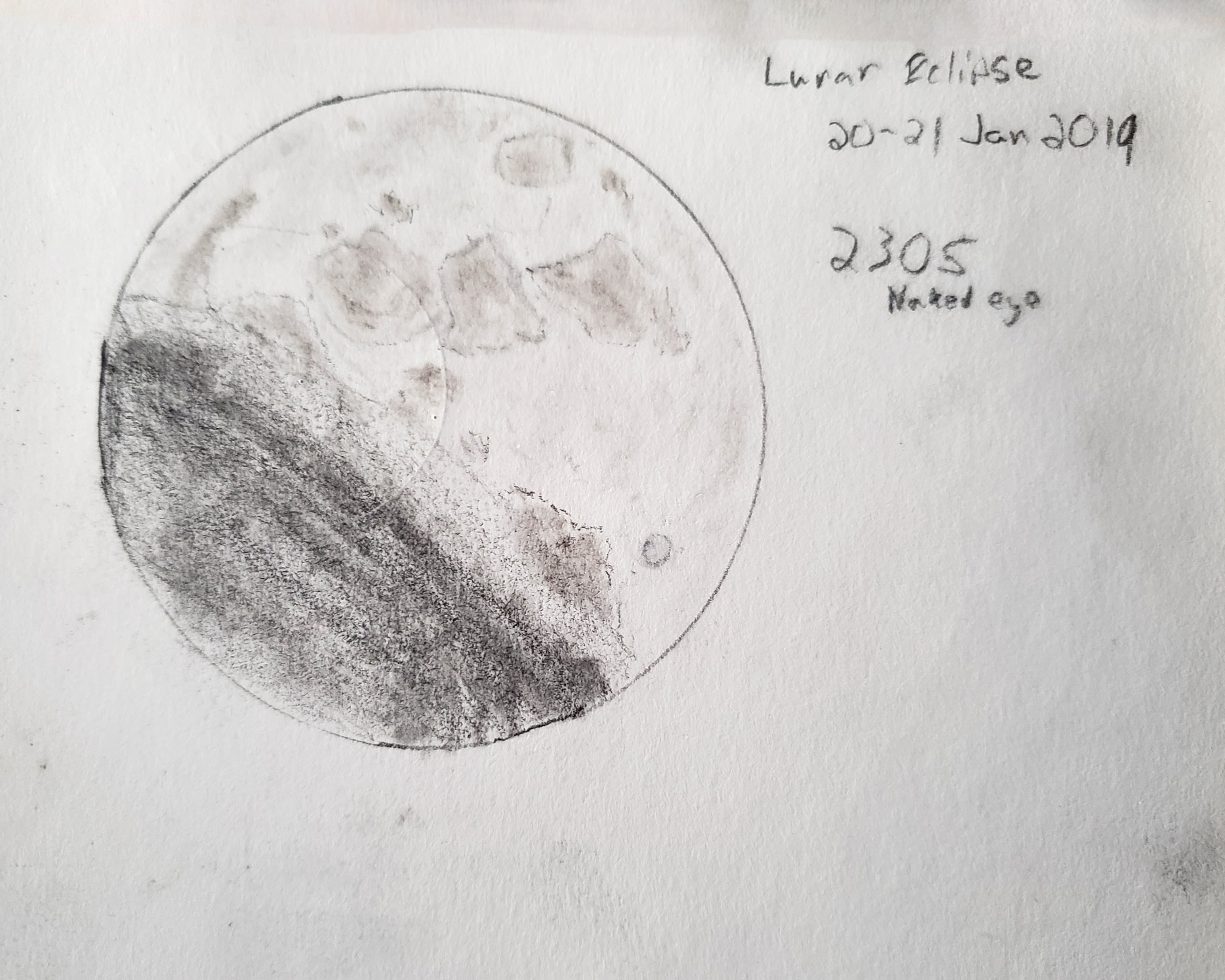 Lunar Eclipse Sketch